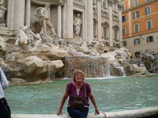 Liz at Trevi Fountain Rome 3 7 11 - 2