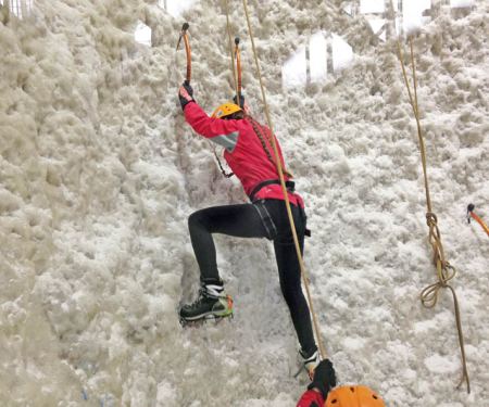 Ice climbing during a Scottish Highland's home swap